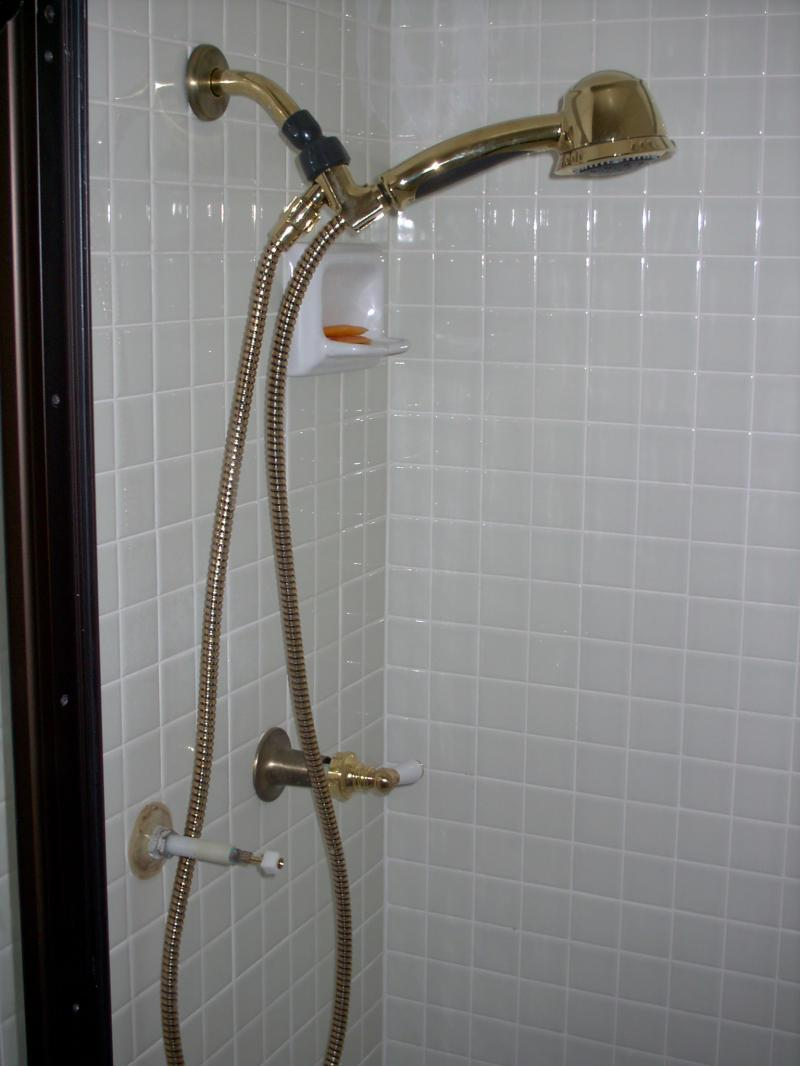 Shower with fixtures - N. County Residence